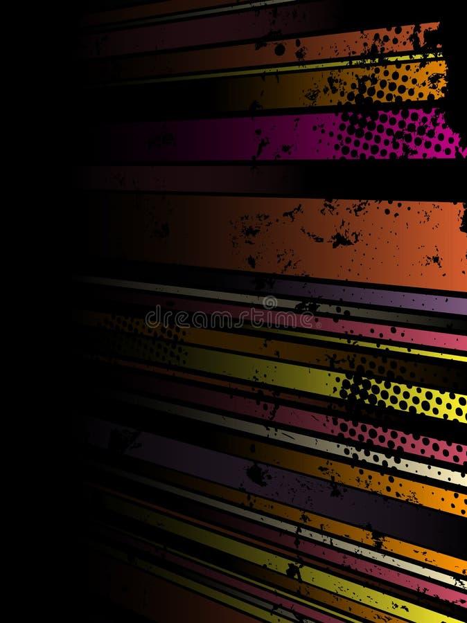 Abstrakter Grunge Streifen-Hintergrund vektor abbildung