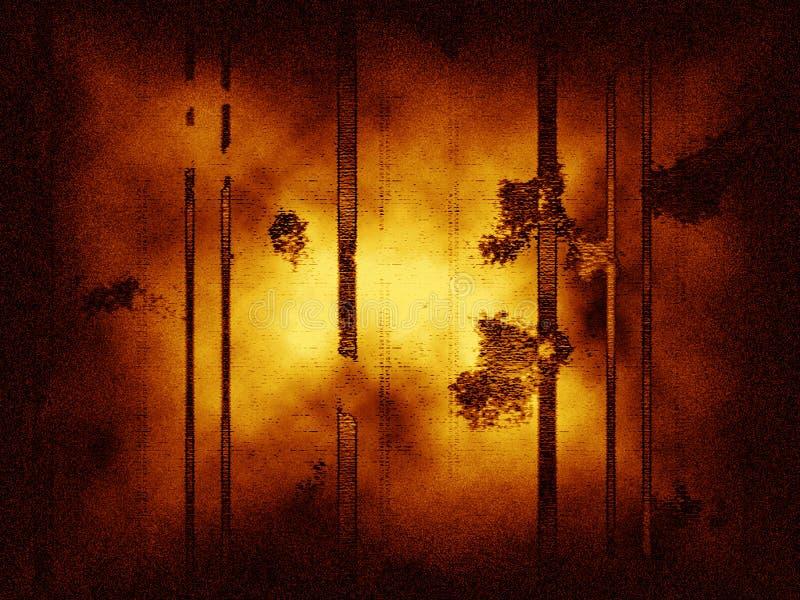 Abstrakter grungy Hintergrund mit vertikalen Zeilen, Staub und Geräuschen. lizenzfreie abbildung