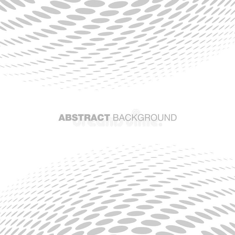 Abstrakter Halbton-Gray Technology Background stock abbildung