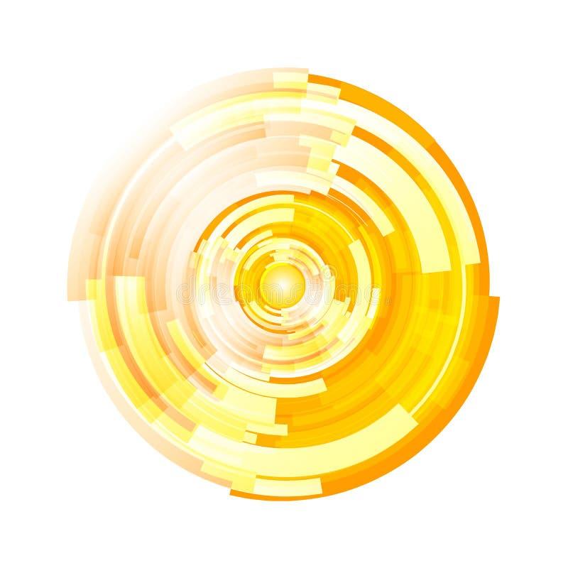 Abstrakter Halbtonkreishintergrundvektor lizenzfreie abbildung
