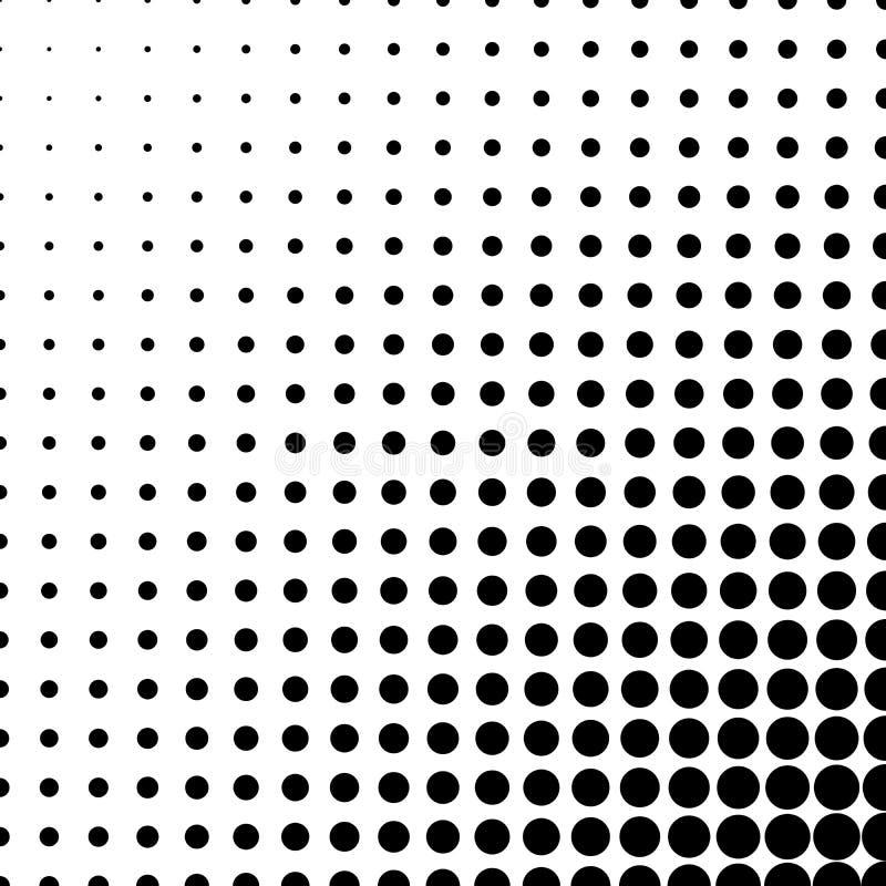 Abstrakter Halbtonsteigungshintergrund des Kreises punktiert in der linearen Anordnung Einfaches Vektorelement des modernen Desig stock abbildung
