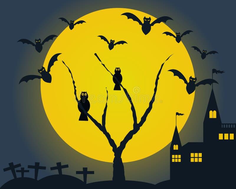 Abstrakter Halloween-Hintergrund vektor abbildung