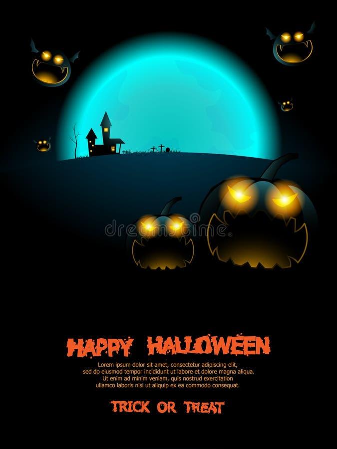 Abstrakter Halloween-Plakathintergrund lizenzfreie abbildung