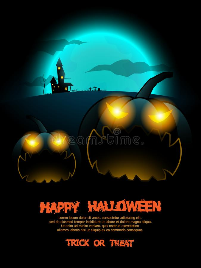 Abstrakter Halloween-Plakathintergrund vektor abbildung