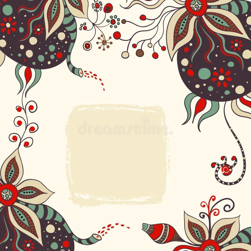 Abstrakter handdrawn Hintergrund vektor abbildung