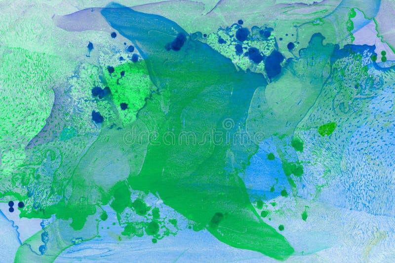 Abstrakter handgemalter Marmorierunghintergrund in der Art der modernen Kunst mit flüssiger freifließender Tinte und Acrylmalerei stockfoto
