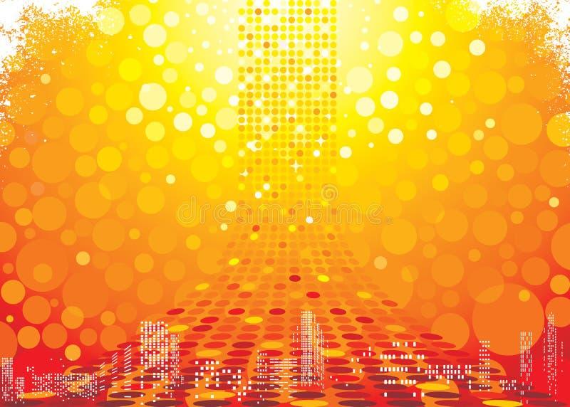 Abstrakter heißer Hintergrund stock abbildung