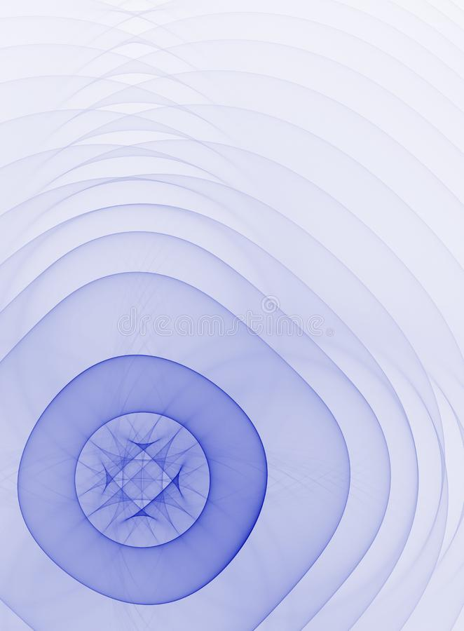Abstrakter hellblauer Fractalhintergrund vektor abbildung