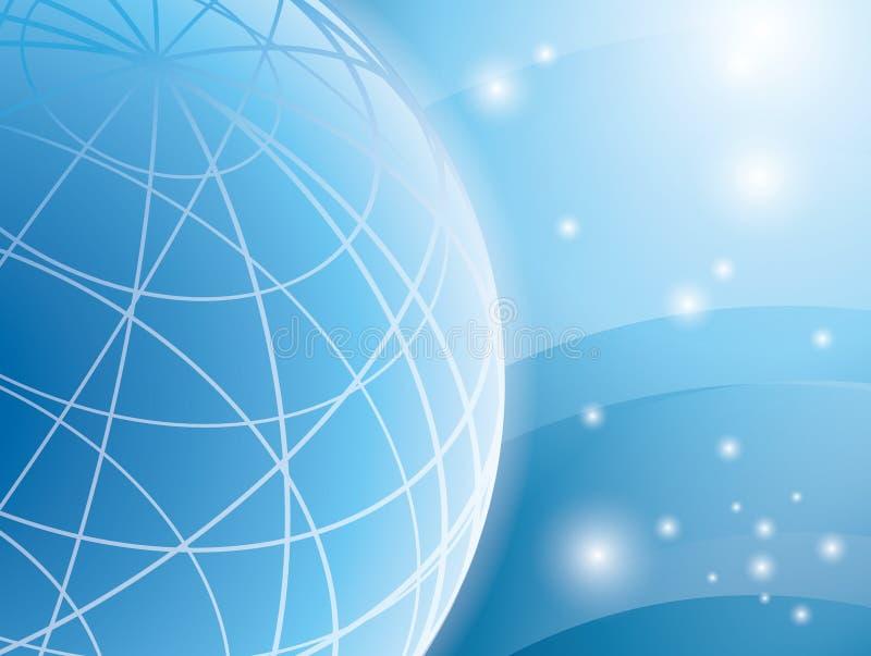 Abstrakter hellblauer Hintergrund mit Kugel vektor abbildung