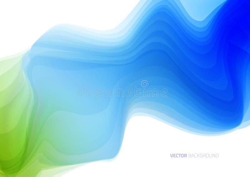 Abstrakter hellblauer wellenförmiger Hintergrund lizenzfreie abbildung