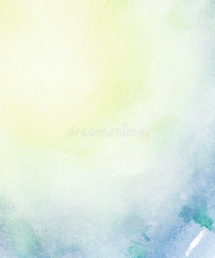 Abstrakter heller Aquarellhintergrund. stockbild