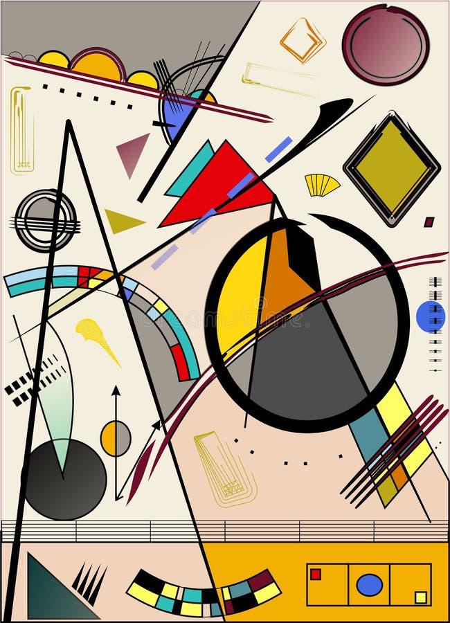 Abstrakter heller Hintergrund, angespornt vom Maler kandinsky vektor abbildung