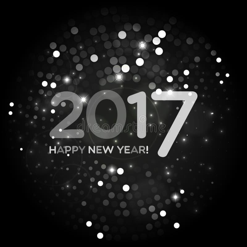 Abstrakter heller Hintergrund des guten Rutsch ins Neue Jahr 2017 stock abbildung