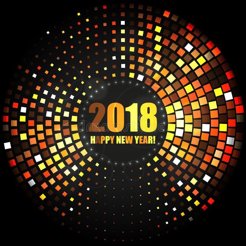 Abstrakter heller Hintergrund des guten Rutsch ins Neue Jahr 2018 stock abbildung