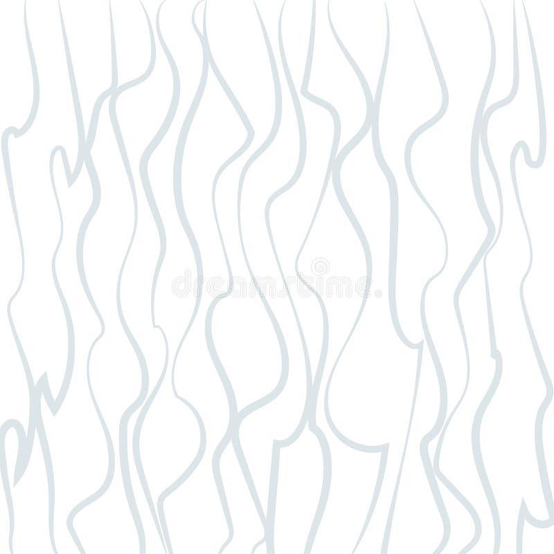 Abstrakter heller Hintergrund kurvte vertikale gewellte Linien auf einem Muster-Tapete Element des weißen Hintergrundes futuristi lizenzfreie abbildung