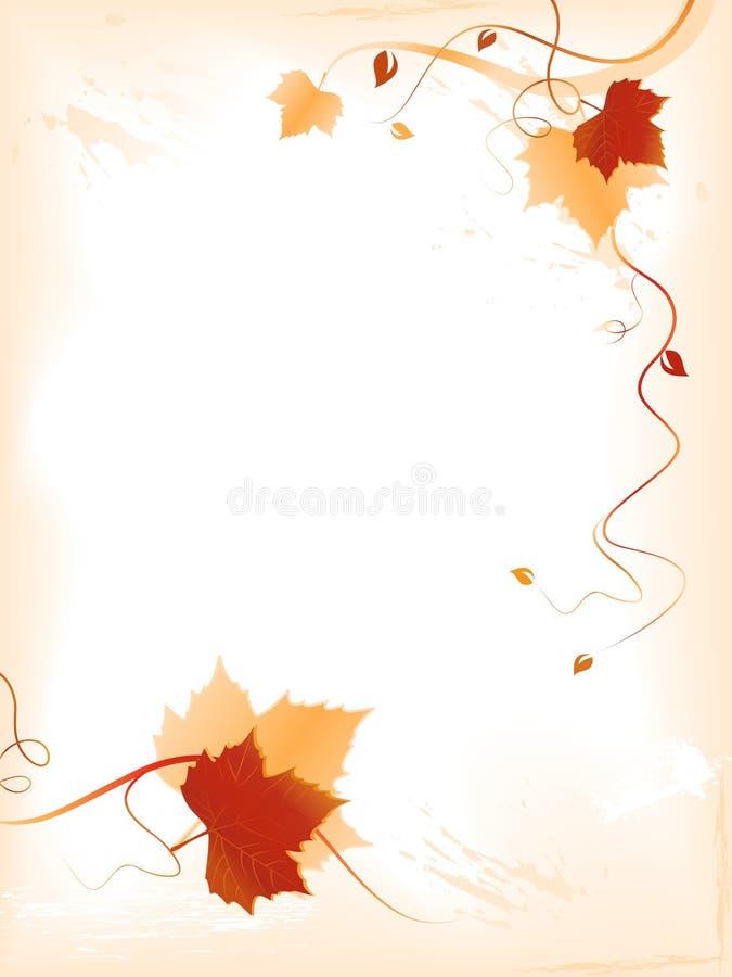 Abstrakter heller Hintergrund mit rotem goldenem Laub lizenzfreie abbildung