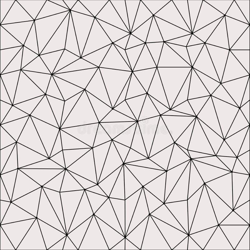 Abstrakter heller Polygon-Hintergrund-Entwurf Abstraktes geometrisches Muster Lineare Gittervektorillustration stock abbildung