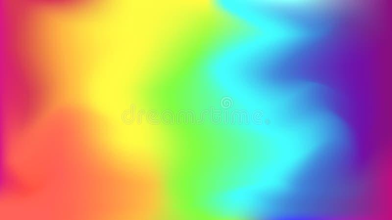 Abstrakter heller Regenbogen unscharfer Hintergrund lizenzfreie abbildung