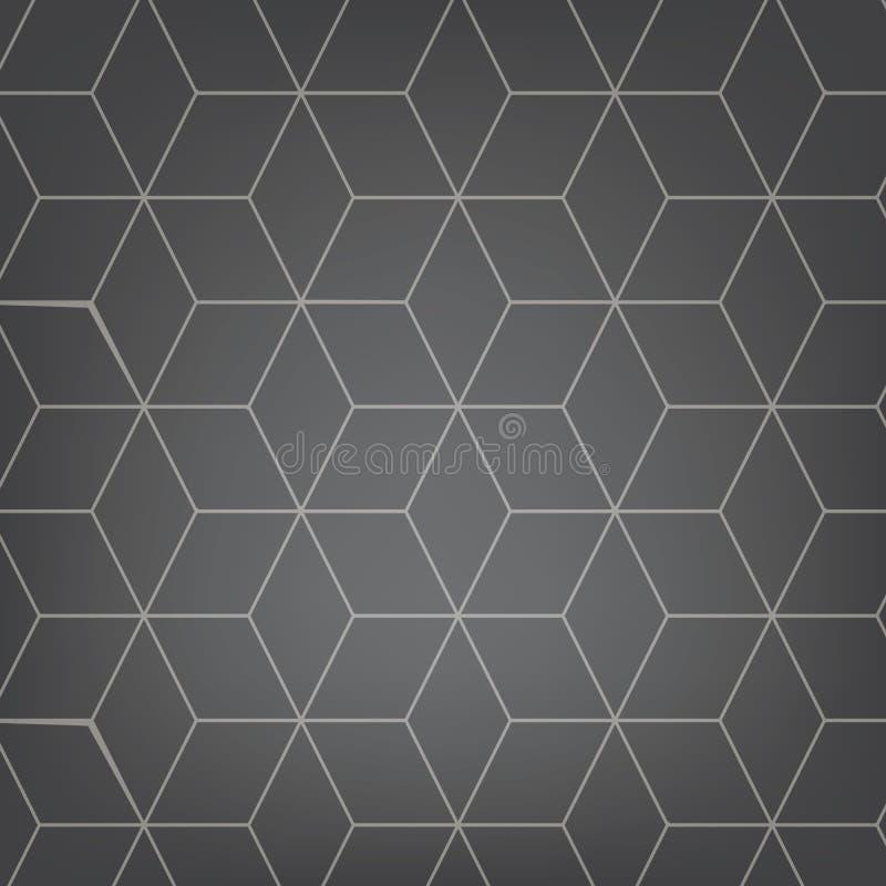 Abstrakter hellgrauer Hintergrund des Vektors Nahtloses Muster Necker-Würfels Geometrische Beschaffenheit Modernes Weiche vernarr stock abbildung