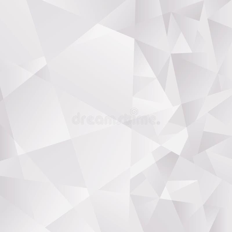 Abstrakter hellgrauer polygonaler Hintergrund Vektor ENV 10 cmyk vektor abbildung