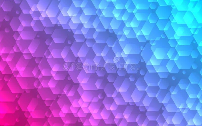 Abstrakter Hexagonhintergrund Futuristischer geometrischer Minimalismus vektor abbildung