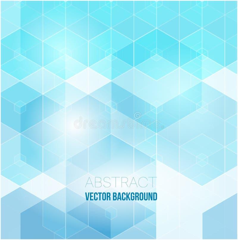 Abstrakter Hexagonhintergrund Polygonales Design der Technologie Futuristischer Minimalismus Digital vektor abbildung