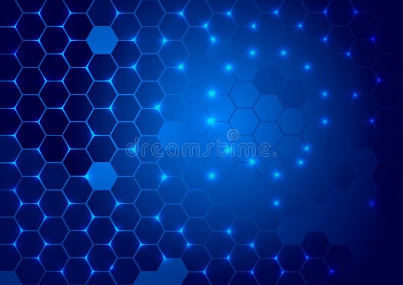 Abstrakter Hightech- blauer Hintergrund stockfoto