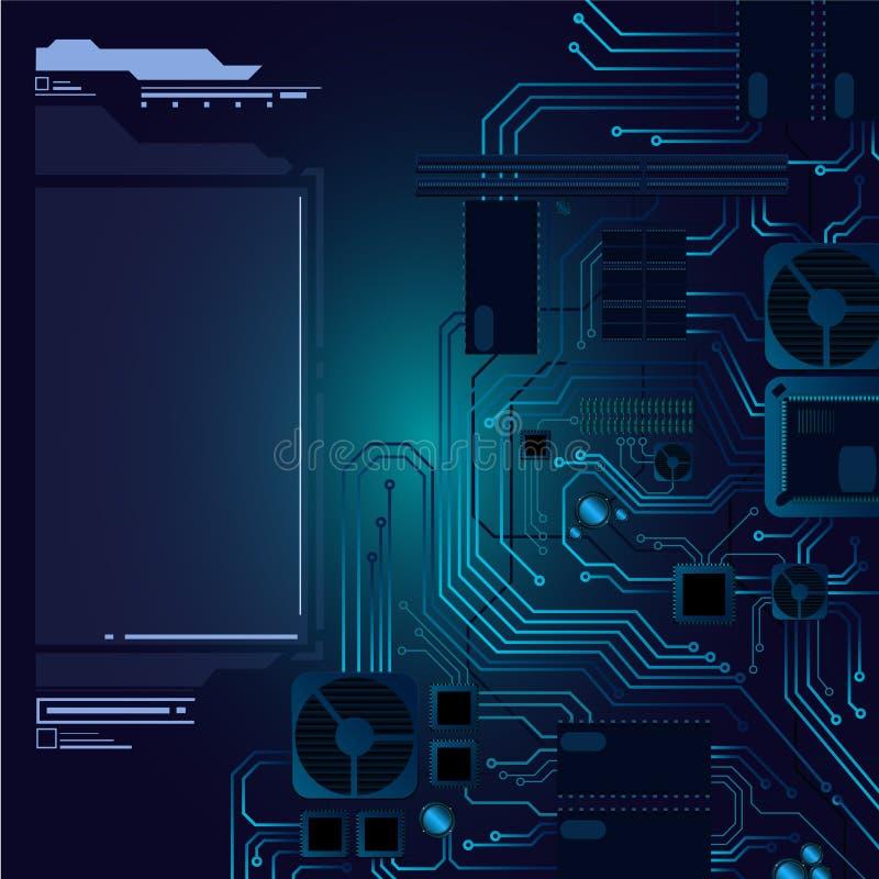 Abstrakter Hightech- Hardware-Hintergrund lizenzfreie abbildung