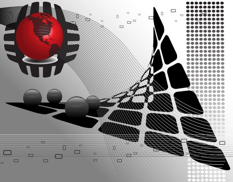 Abstrakter Hightech- Hintergrund vektor abbildung