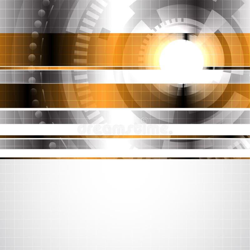 Abstrakter Hightech- Hintergrund stock abbildung