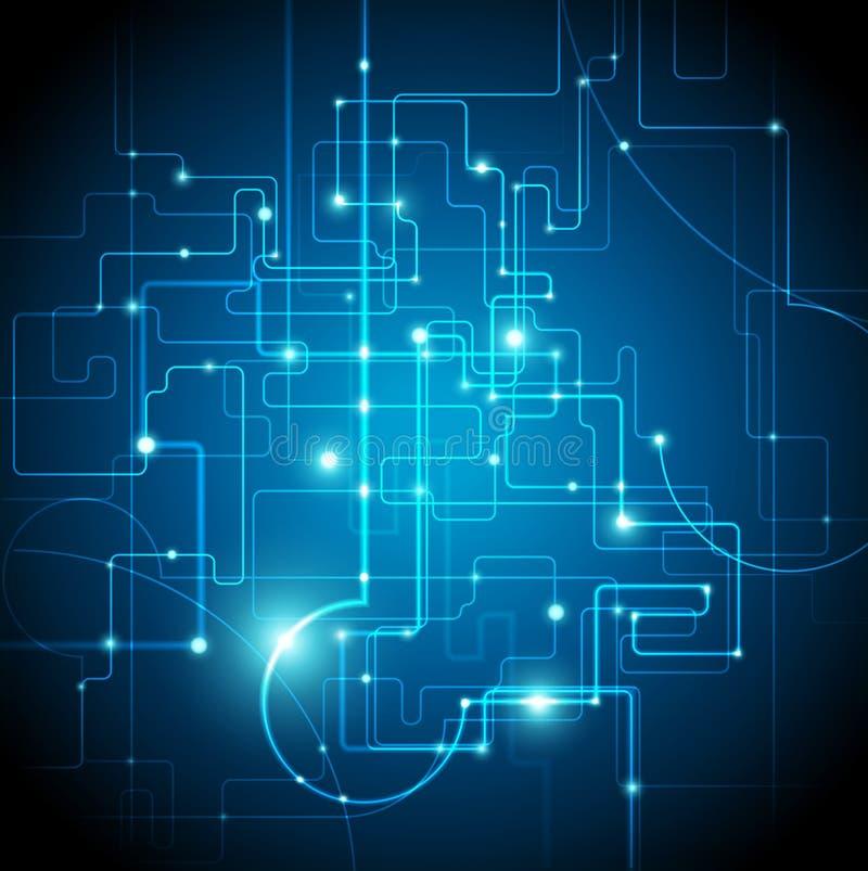 Abstrakter Hightech- Hintergrund - Vektor lizenzfreie abbildung