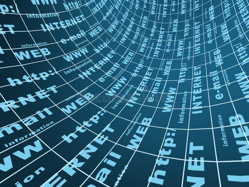Abstrakter Hintergrund über die Internet-Symbole stock abbildung