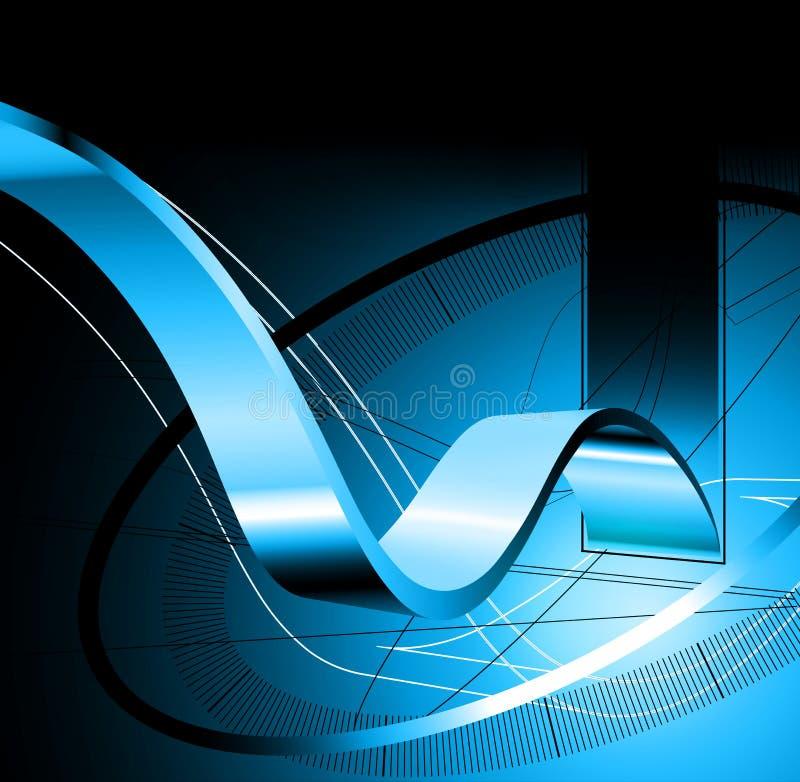abstrakter Hintergrund 3d stock abbildung
