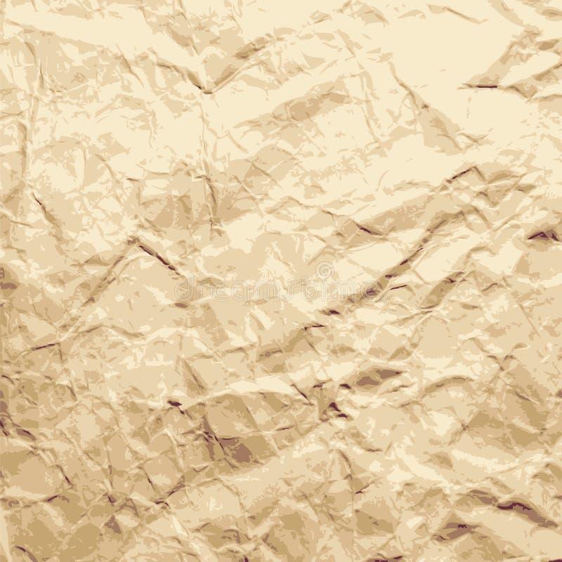Abstrakter Hintergrund. Blatt des zerquetschten Papiers. lizenzfreie abbildung