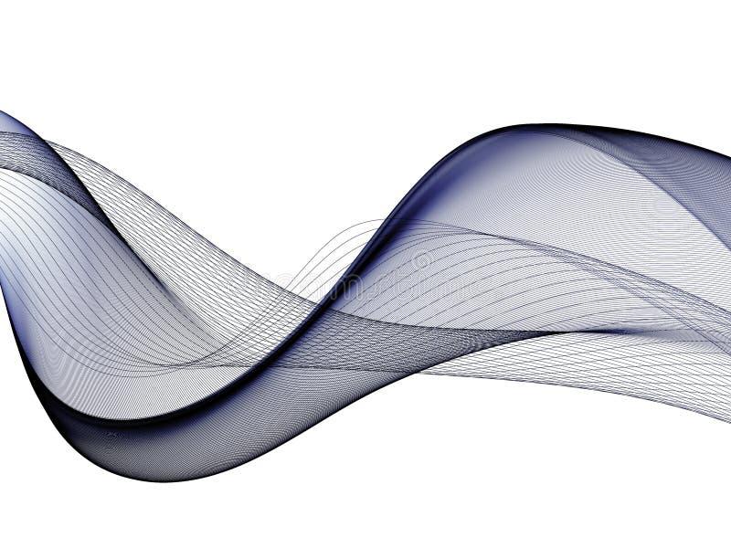 Abstrakter Hintergrund, blaue wellenartig bewegte Linien f?r Brosch?re, Website, Fliegerdesign lizenzfreies stockfoto