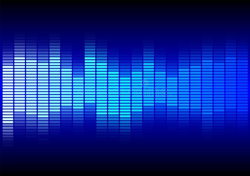 Abstrakter Hintergrund - blauer Entzerrer stock abbildung