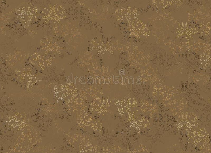 Abstrakter Hintergrund Browns für vorzügliche Tapeten stock abbildung