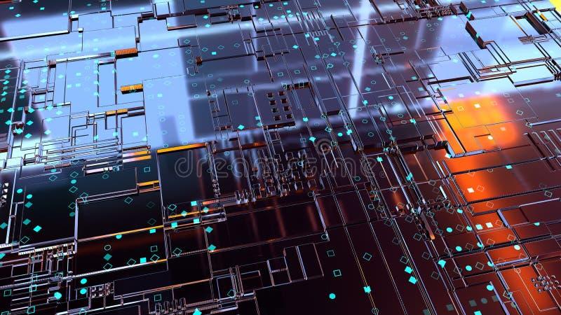 abstrakter Hintergrund 3d render lizenzfreies stockbild