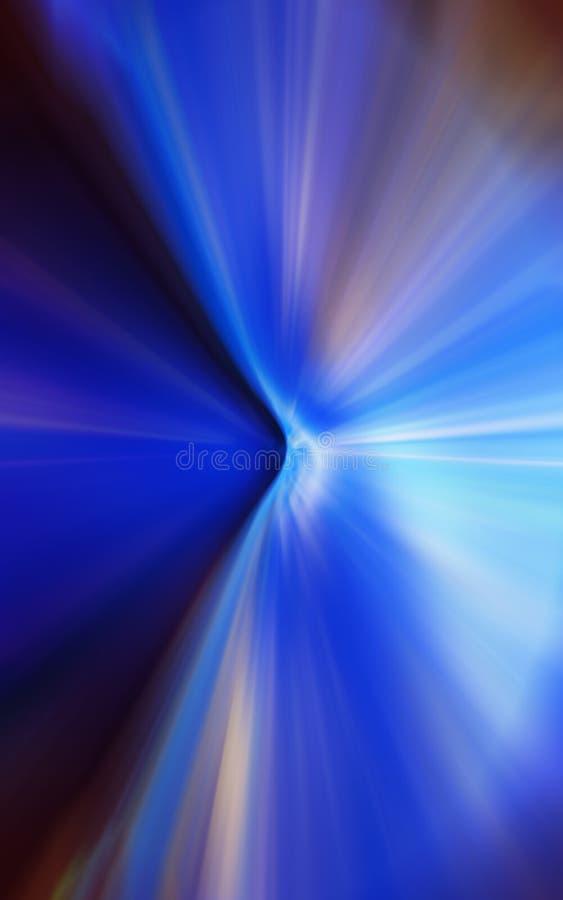 Abstrakter Hintergrund in den blauen und orange Tönen stock abbildung