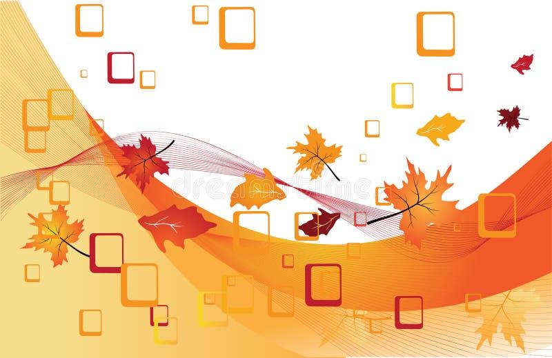 Abstrakter Hintergrund in den Farben des Herbstes lizenzfreie abbildung