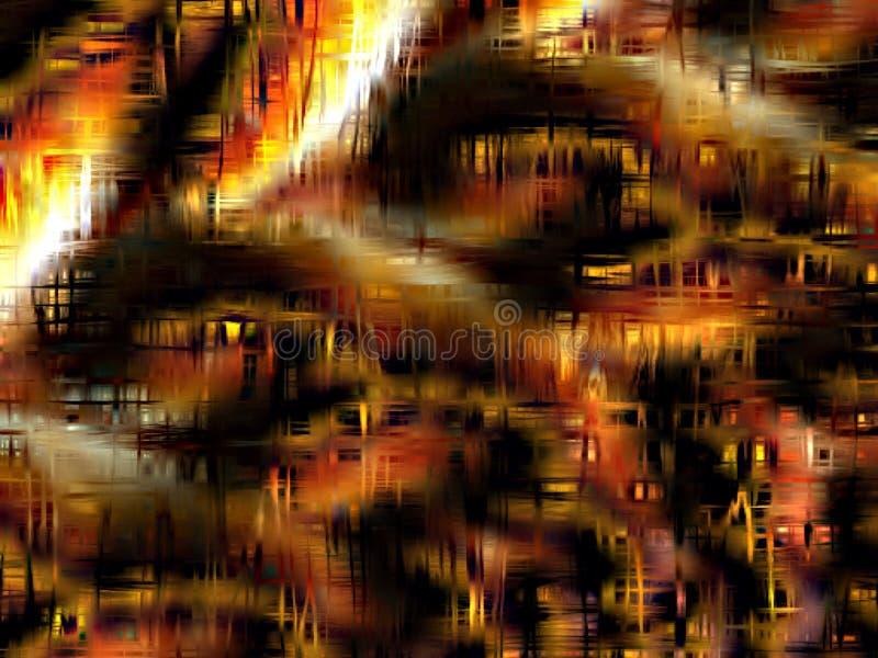 Abstrakter Hintergrund in den Schatten des Goldes, der Orange, des Weiß und des Schwarzen lizenzfreie abbildung