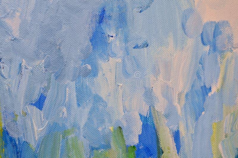 Abstrakter Hintergrund der blauen und weißen Farben lizenzfreies stockbild