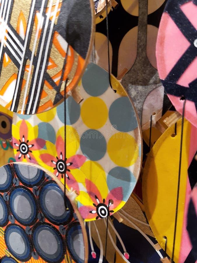Abstrakter Hintergrund der bunten klaren Kreise stockbilder