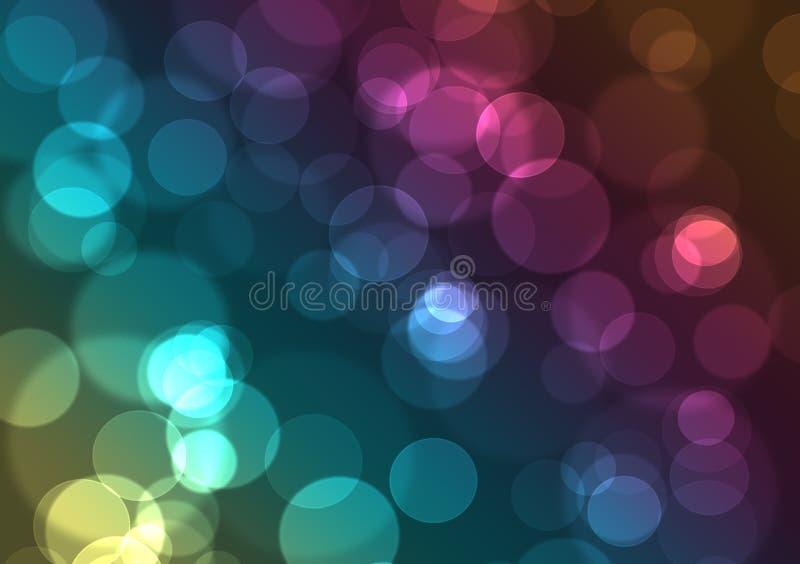 Abstrakter Hintergrund der bunten Leuchten der Stadt Nacht lizenzfreie abbildung