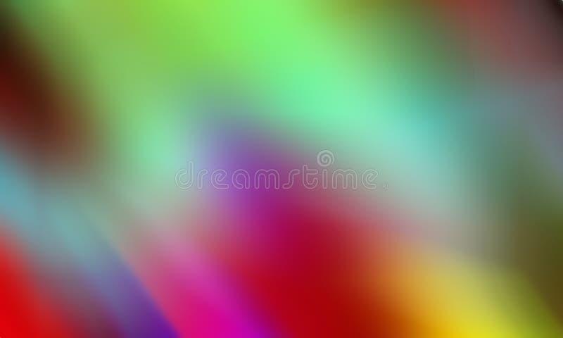 Abstrakter Hintergrund der bunten Unschärfe der Bewegung, klare Farbvektorillustration stock abbildung