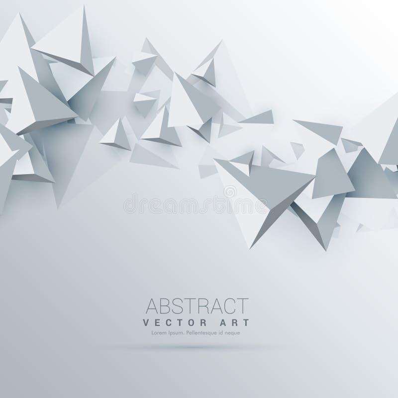 abstrakter Hintergrund der Dreiecke 3d stock abbildung