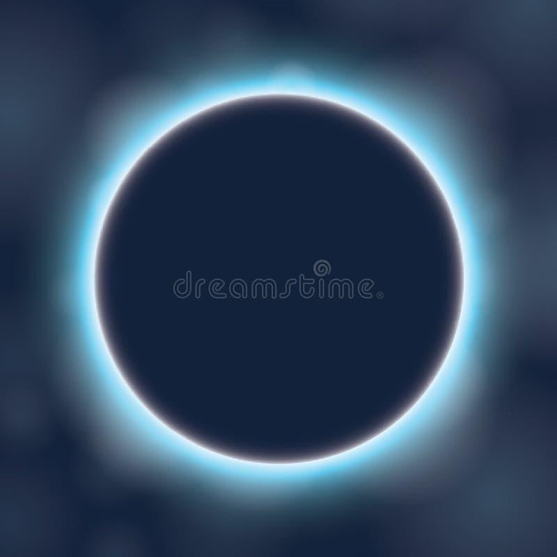 Abstrakter Hintergrund der dunkelblauen Farbe mit Aufflackern stock abbildung
