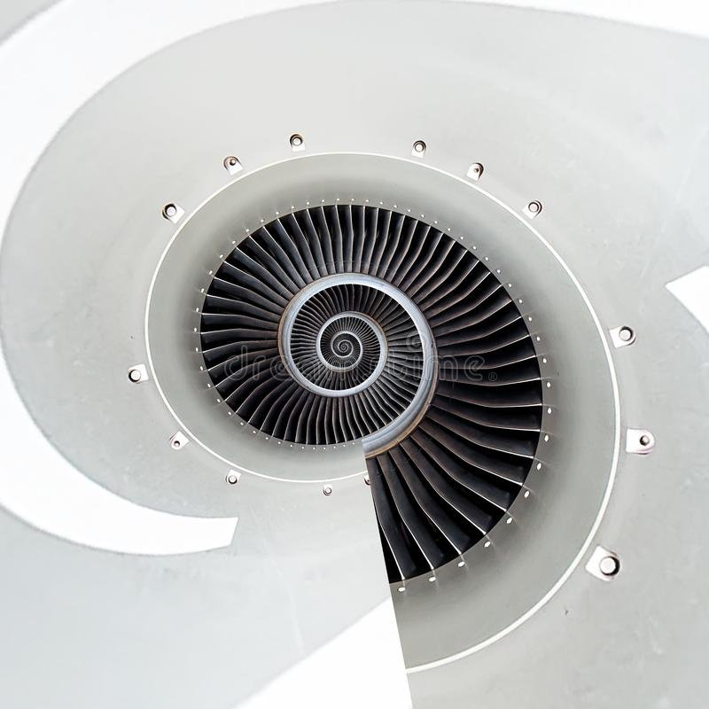 Abstrakter Hintergrund der Flugzeugmaschinen-Spirale Maschine Fractalhintergrund Surreales abstraktes Bild der industriellen Unen lizenzfreies stockbild