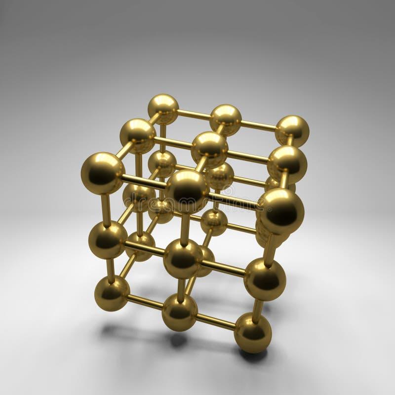 Abstrakter Hintergrund der Goldkugeln lizenzfreie abbildung
