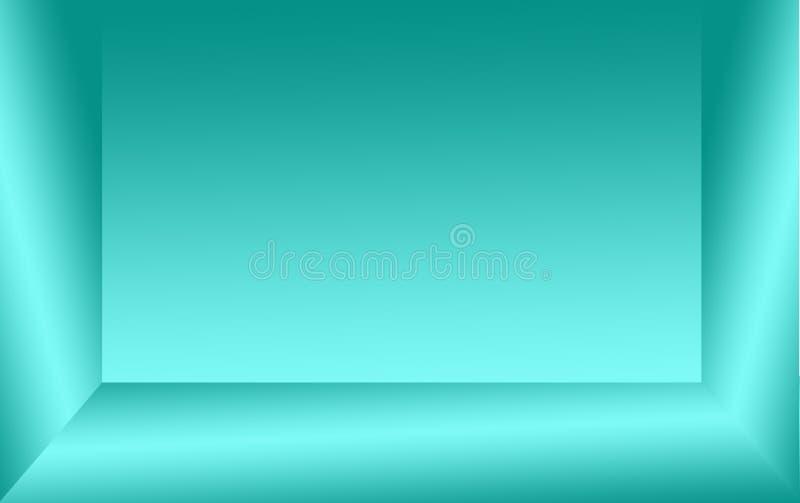 Abstrakter Hintergrund der grünen oder aquamarinen Farb- und Grausteigungswand lizenzfreie stockbilder
